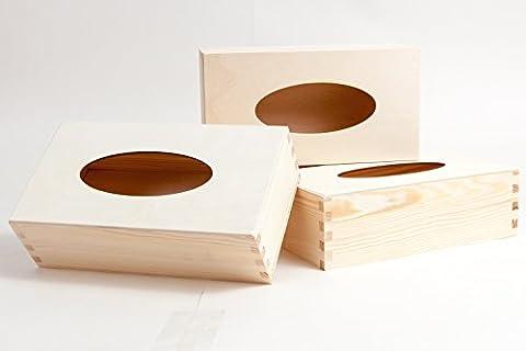 3 PCS TISSUE BOX / UNPAINTED NEW WOODEN TISSUE BOX RECTANGLE / ART CRAFT DECOUPAGE