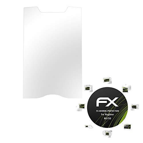 atFolix Bildschirmfolie für RugGear RG150 Spiegelfolie, Spiegeleffekt FX Schutzfolie