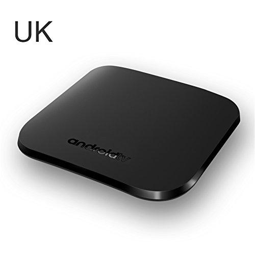 Android 7.1 TV Box M8S PLUS Smart TV Box mit 1GB SDRAM + 8GB ROM, Quad-Core Prozessor, Unterstützt 2.4G WiFi IEEE 802.11 b/g/n, 4K, H.265 MPEG1,MPEG2,MPEG4,RM,RMVB Media Player (UK)