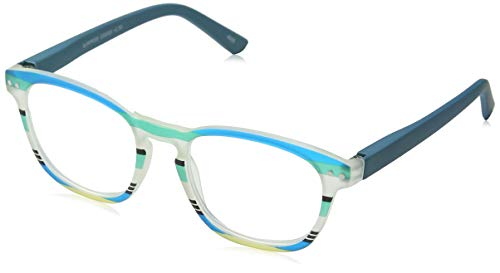 I NEED YOU Lesebrille Surprise (+ 2,50, Mint-Blau gestreift)