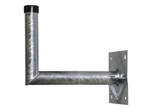 A.S.Sat 24060 Wandhalter feuerverzinkter Stahl 60 cm Wandabstand 48 mm Halterrohr mit Verstrebung
