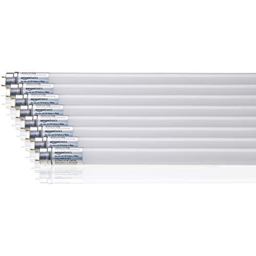 AmazonBasics Professional - LED-Leuchtmittel, T8-Röhre, 1.200 mm, 1.600 lm, 14,5 W (entspricht 36-W-Röhre), Naturweiß, 4000 K, G13, 8er-Pack