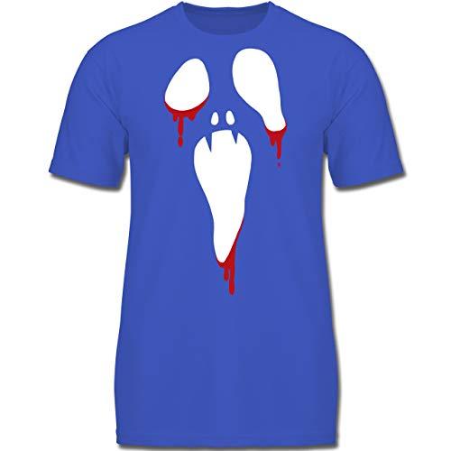 ream Halloween - 164 (14-15 Jahre) - Royalblau - F130K - Jungen Kinder T-Shirt ()