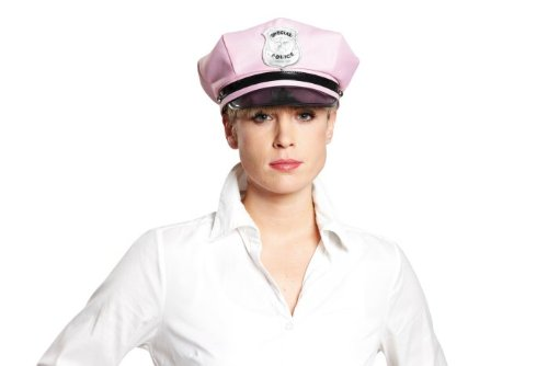 NET TOYS Polizei Mütze rosa Polizeimütze Damen Polizeikappe Polizeihut Hut Kappe Karneval Kopfbedeckung JGA