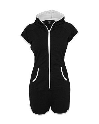 Urban Classics Ladies Hot Jumpsuit, Color:blk/wht;Größe:S