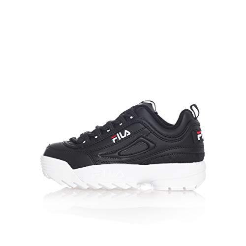 Fila Disruptor Kids Sneaker Babyschuhe aus schwarzem Leder 1010567-25Y (Schuhe Fila Baby)