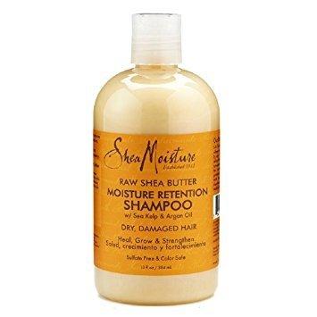 SHEA MOISTURE - Beurre de karité et huile d'argan - Shampooing Pour les cheveux bouclés abîmés et stressés - Il régénère et nourrit - Douceur - Elasticité - Ingrédients naturels - 305 ml