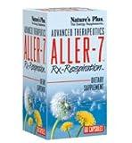 Nature s plus - Aller-7 rx respiration - 60 gélules - Contre les rhinites allergiques