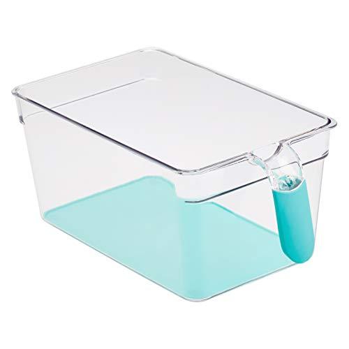 AmazonBasics - Kühlschrank-Behälter mit Griff, groß, 2 Stück