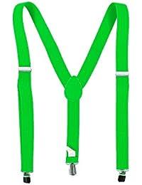 Bretelles Y unisex Uni réglables et élastiqués 02/5004 , choisir:neon vert