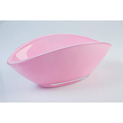 INNA Glas Lot 2 x Coupelle en Verre/Coupe décorative Ovale Kira, Rose, 26 x 12 cm - 2 pcs Coupe à Fruits