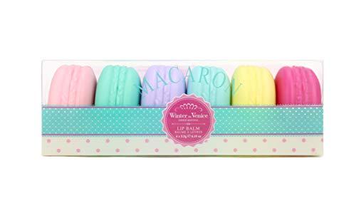 Invierno en Venecia - Bálsamo labial macarons 6pc colección