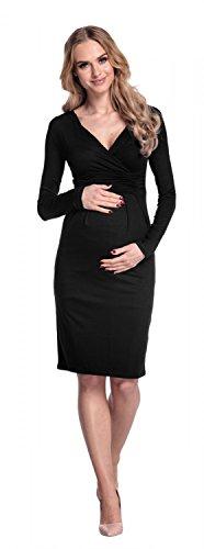 Happy Mama Damen Umstands Kleid Passt In Allen Phasen Der Schwangerschaft 285p Schwarz