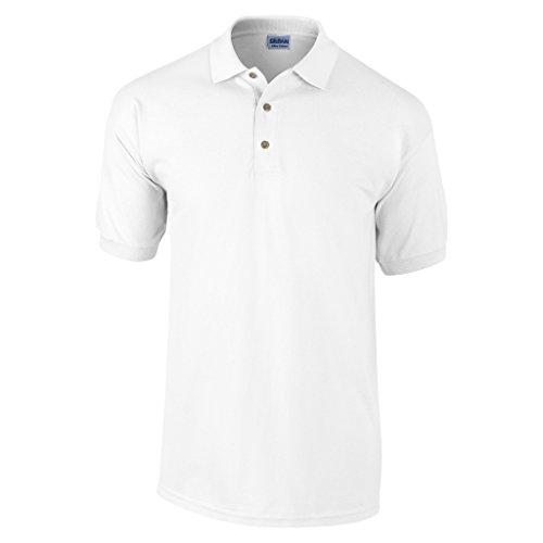 GILDANHerren Poloshirt Weiß - Weiß