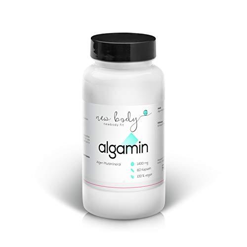 Mineralkomplex Algamin Kapseln, 72 Spurenelemente zu Versorgung des Körpers im Zuge des Abnehmens oder bei Sport - Nahrungsergänzungsmittel mit 100% natürlichen Inhaltsstoffen, Vegane Kapseln