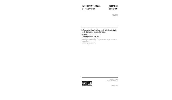 ISO/IEC 8859-16:2001, Informat...