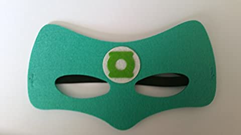 Green Lantern Superhero Childrens Masks Choose From Batman Superman Spiderman Batgirl Mutant Ninja Turtles Green Lantern Thor Captain America The Flash Ironman The Hulk Spidergirl Wonder Woman Supergirl Robin Fancy Dress For Boys and Girls (Green