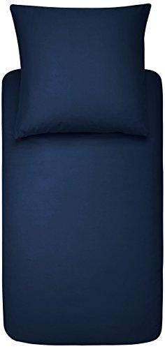 AmazonBasics Parure de lit avec housse de couette en microfibre, 140 x 200 cm - Bleu marine