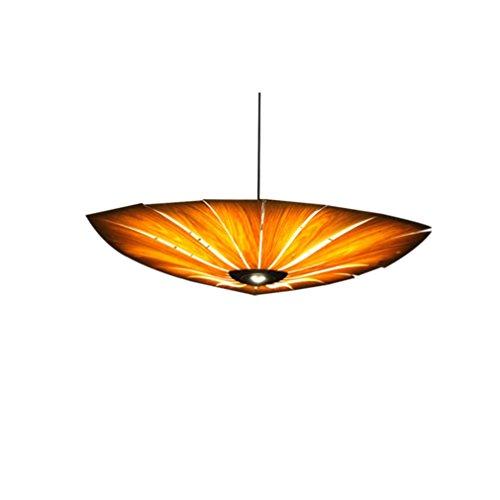 Mode LED aus Holz Pendelleuchte kunst design kreative Lichter persönlichkeit Wohnzimmer Bar Lüster Original Öko Holz Pendelleuchte Ø600MM Kirschholz Regenschirm Pendelleuchte Höhenverstellbar Lüster -