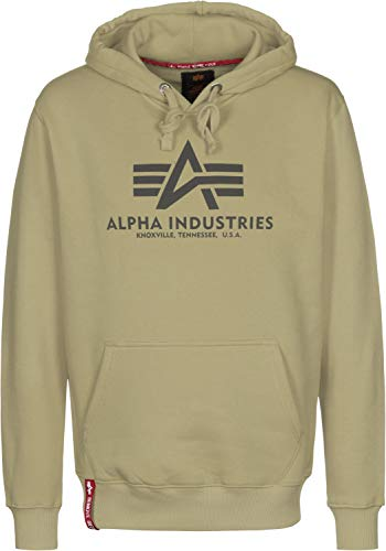 Alpha Industries Kapuzenpullover Basic orange braun rosa gelb schwarz weiß (XXL, Light Olive) (Orange Schwarz Winter Jacke)