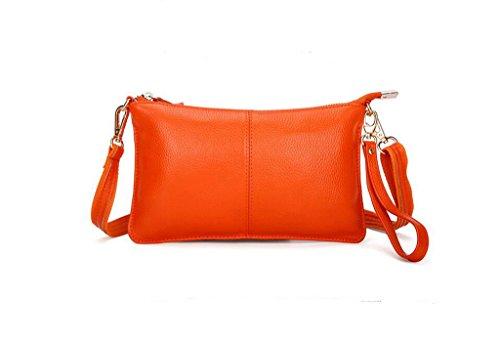 tutta la signora primo strato di messenger bag in pelle, borsa a mano, sacchetto di sera, borsa casual Orange