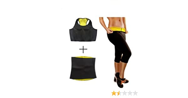 e4d5dfc459d70 Buy Tricombo of Hot Shapers Pant Belt Bra Hotshapers Neotex Shape Wear XXL  - Black Online at Low Prices in India - Amazon.in