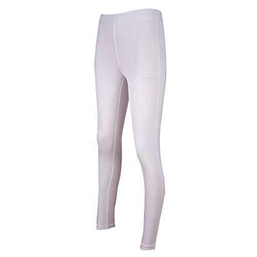 ESHOO Femme Leggings de Sport Jogging Yoga Pantalons Collant de Compression Blanc