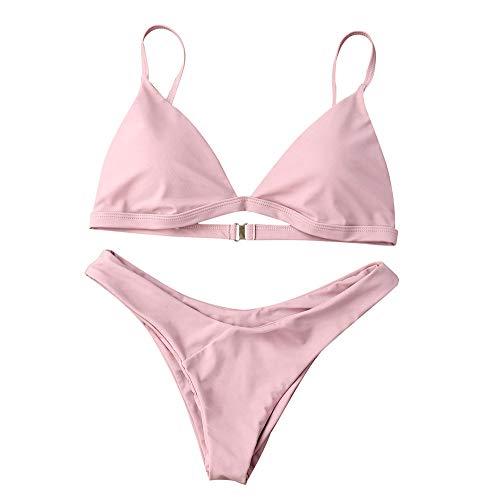 LEXUPE Split sexy Badeanzug Bikini Frauen Push-Up gepolsterter BH Beach Bikini Set Badeanzug Bademode