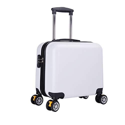 Nosterappou valigia trolley, manico retrattile leggero, valigia trolley portatile per ufficio affari studente, design a quattro ruote, rotazione libera a 360 gradi, semplice valigia da viaggio, guscio