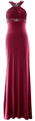 MACloth - Robe - Moulante - Sans Manche - Femme Rouge vin