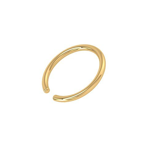 Eloish Shiny Simple Plain Gold Nose Ring Stylish Classic Plain Gold NoseRing. Stylish Gold Nose Ring.