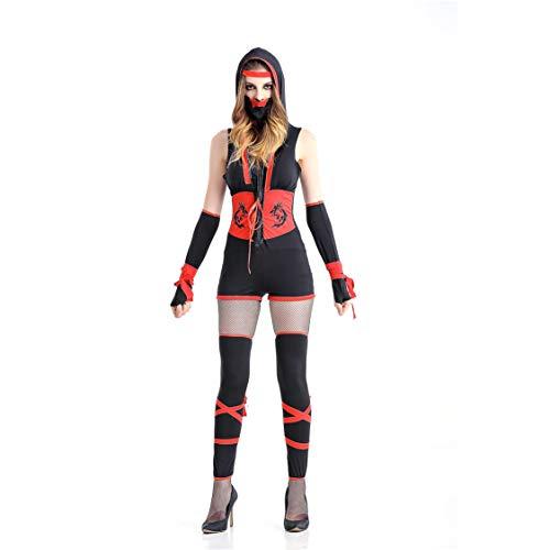Kostüm Sexy Zorro - GAOJUAN Halloween Kostüm Karnevals Erwachsene Cosplay Sexy Ninja Zorro Performance Kleidung,XL