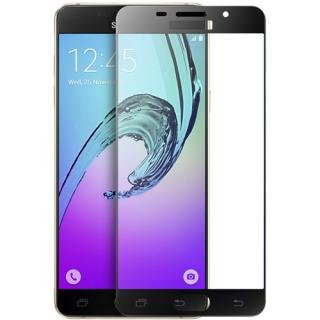 AE MOBILE ACCESSORIES AE (TM) BRANDED Luxury Full Body Protection Front Color Tempered Glass For SAMSUNG GALAXY A5 (2016) BLACK