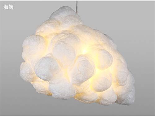 PROOY-D E27 LED Cloud Pendant Lamp Shades Contemporary Cotton Ceiling Light Fixtures Xmas Wedding Chandelier Children Es Bedroom Dining Living Room Home Bar Cafe Decor(70 * 40Cm),3