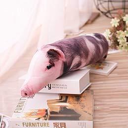 YOUHA Simuliertes schlafendes Schwein-Plüsch-Kissen-Tier-angefüllte Kissen-Kind-Erwachsen-Haustier-Kissen-Sofa-Stuhl-Dekor-Freund-Geschenk 50/70/90 / 120cm 50cm Punktschwein (Kissen Haustiere Traktor)