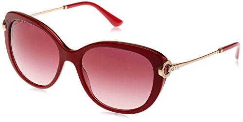 Bvlgari 8194, occhiali da sole unisex-adulto, nero (try layer burgundy), 57