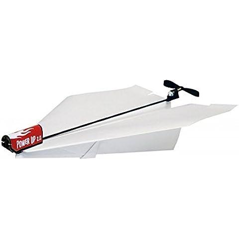 Truco de aeroplano motorizado papel con smartphone