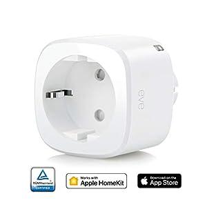 Eve Energy - Smarte Steckdose (Deutsche Markenqualität), TÜV zertifiziert, Verbrauchsmessung, integrierte Zeitpläne, schaltet Geräte ein & aus, Sprachsteuerung, keine Bridge nötig, BLE (Apple HomeKit)