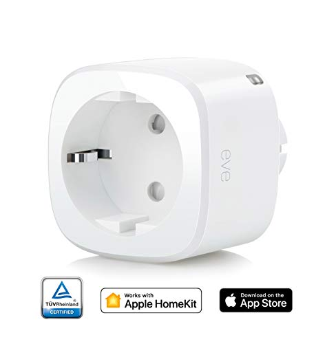 Eve Energy - Interruptor y contador eléctrico inalámbrico, Bluetooth Low Energy, non occorrono bridge o gateway, blanco (Apple HomeKit)