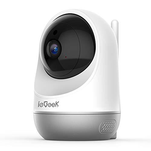 ieGeek Cámara WiFi IP de Seguridad, cámara inalámbrica para Mascotas, cámara de vigilancia 1080P CCTV doméstica, con seguimient de Movimiento