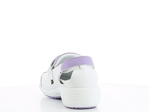 Oxypas Move Up Salma Slip-resistant, Antistatic Nursing Shoes, White/Blue (Light Blue), 5.5 UK (39 EU) Bianco (White (Lic))