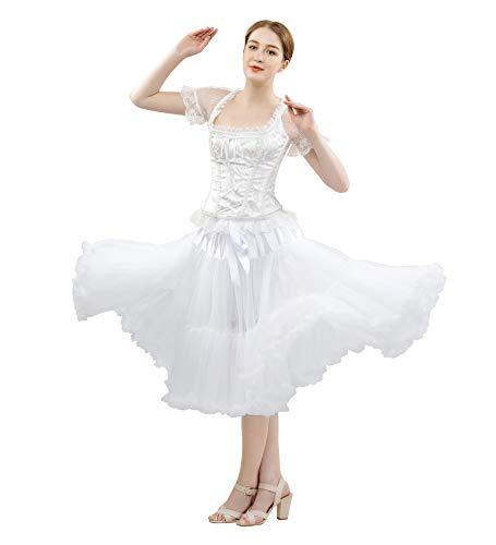 ostüm Ballett Tanz Puffy Rock Erwachsene Luxuriöse Weiche Chiffon Petticoat Tüll Tutu Rock ()
