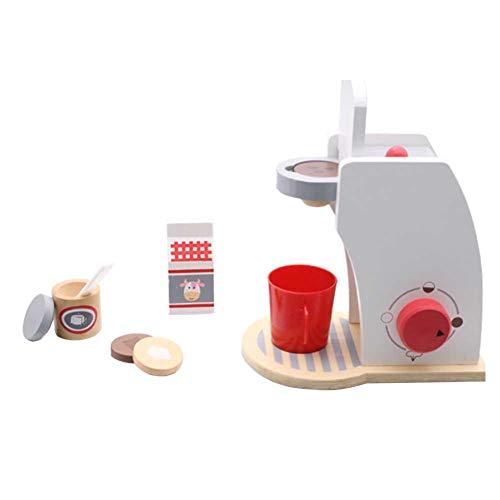 pretty-H Máquina de café de Madera Juego de máquina de café de Madera casa de Juego Juguete Máquina de café de Madera Juego de casa de Juguete