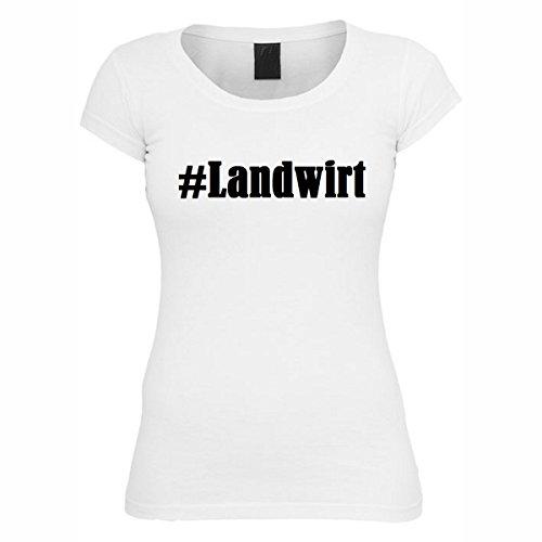 T-Shirt #Landwirt Hashtag Raute für Damen Herren und Kinder ... in der Farbe Weiß Weiß
