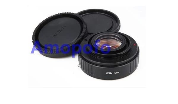 Amopofo Focal Reducer Speed Booster Adapter Minolta MD Mount Lens to Sony NEX E A6000 A5000