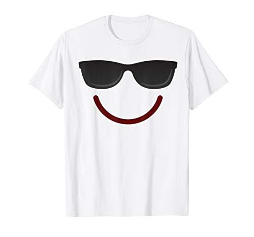 Kostüm Emoticon Smile - Halloween Emojis Kostüm Shirt Emoticon Smile Sonnenbrille T-Shirt