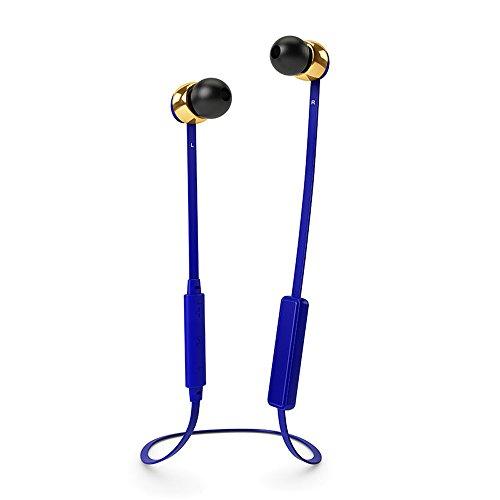 Sudio 8053 VASA BLA kabelloser In-Ear Ohrhörer mit Ladegerät cobalt blau/gold metal (Kabelloser Kopfhörer Für Motorola)
