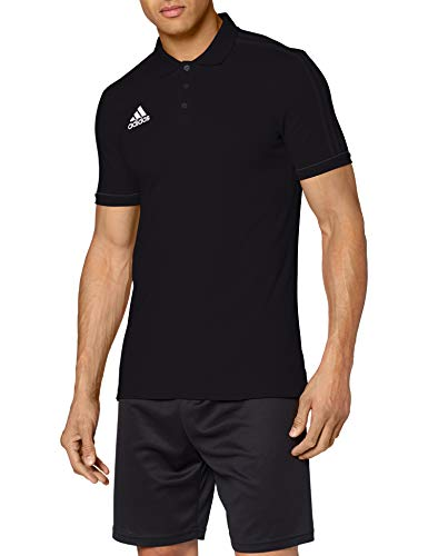 adidas Herren Tiro 17 Cotton Poloshirt, Black/Dark Grey/White, - Herren Adidas Shirt Tennis