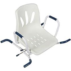 Xuxiaofen-silla de ducha Bañera Bañera giratoria Taburete de Ducha de Asiento de Acero Inoxidable Silla Antideslizante de Baño Viejo
