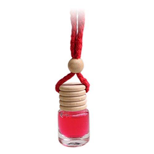 Preisvergleich Produktbild Gemini_Mall Auto-Lufterfrischer zum Aufhängen, Parfüm / Duft / ätherisches Öl / Diffuser, 7ml, Rose, Lavendel, Kölnischwasser, Limone, Jasmin